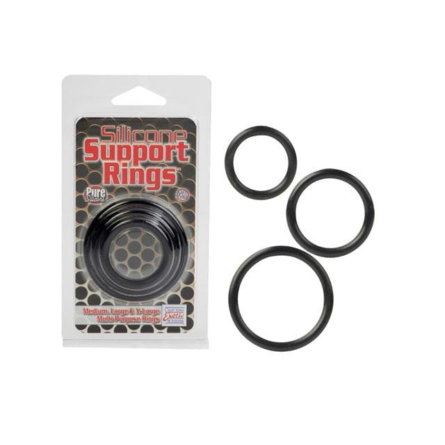 Silicone Support Rings 3 Pack  (Black, Clear, and Ivory)