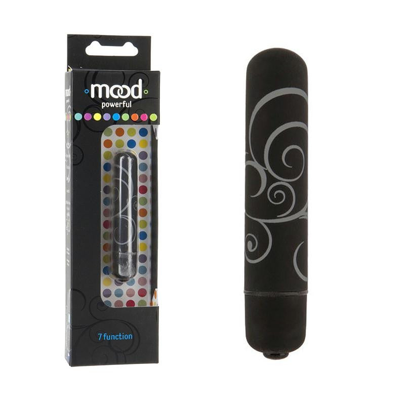 Mood Powerful Small 7 function Bullet  (Black, Blue, Pink, and Purple)