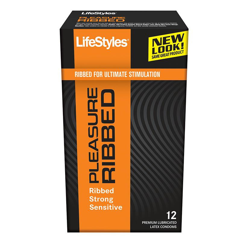 LifeStyles Pleasure Ribbed Condoms 12 pack
