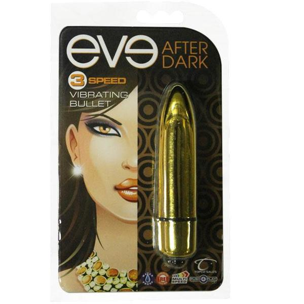Eve After Dark Vibrating Bullet  (Blue, Gold, Green, Red, and Silver)
