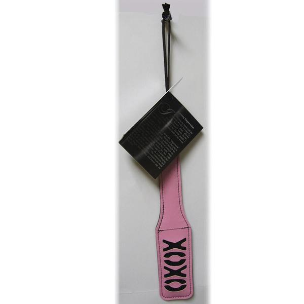 S&M XOXO Paddle  (Black and Pink)