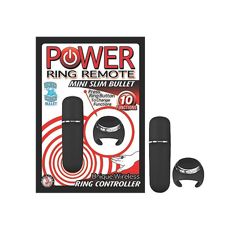 Power Ring Remote Mini Slim Bullet (Black and Purple)