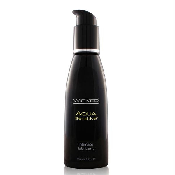 Wicked Aqua Sensitive Lubricant 4 Ounces and 8 Ounces