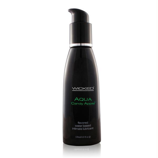 Wicked Aqua Flavored Lubricant 2 Ounces and 4 Ounces  (Candy Apple)