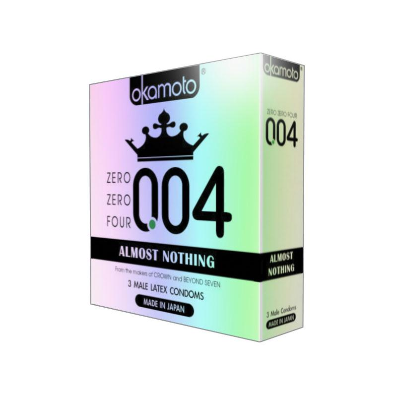 004 Almost Nothing Latex Condoms (3 pack)