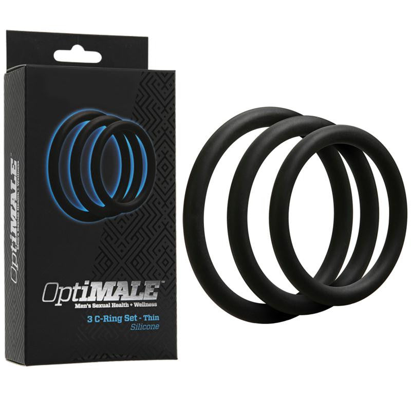 OptiMALE 3 C-Ring Set  (Thin Black and Thin Slate)