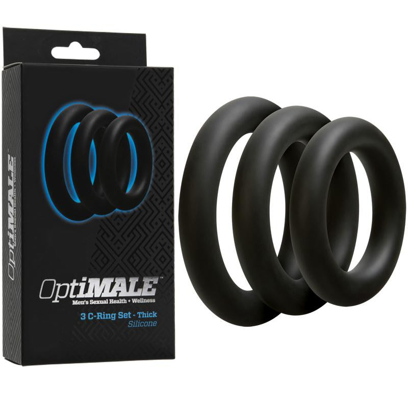 OptiMALE 3 C-Ring Set  (Thick Black and Thick Slate)