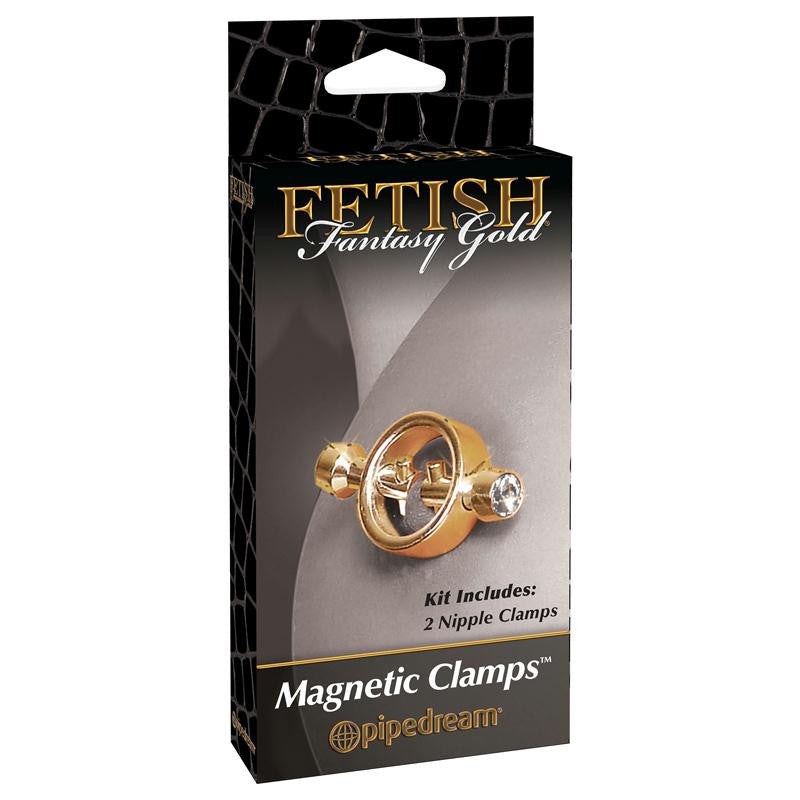 Fetish Fantasy Gold Magnetic Nipple Clamps  (Gold)