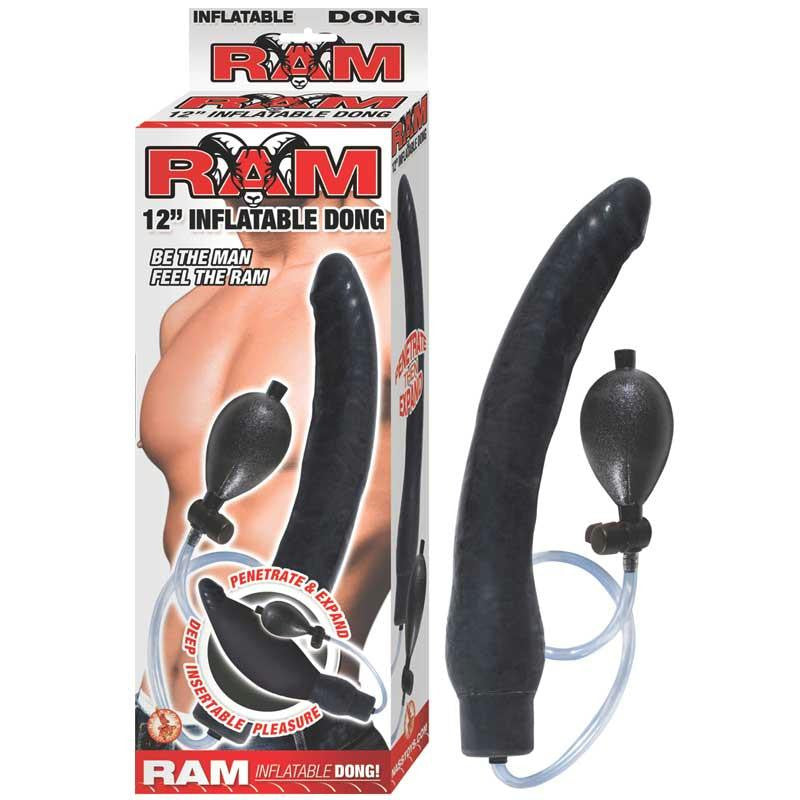 Ram 12 Inches Inflatable Dong  (Black)