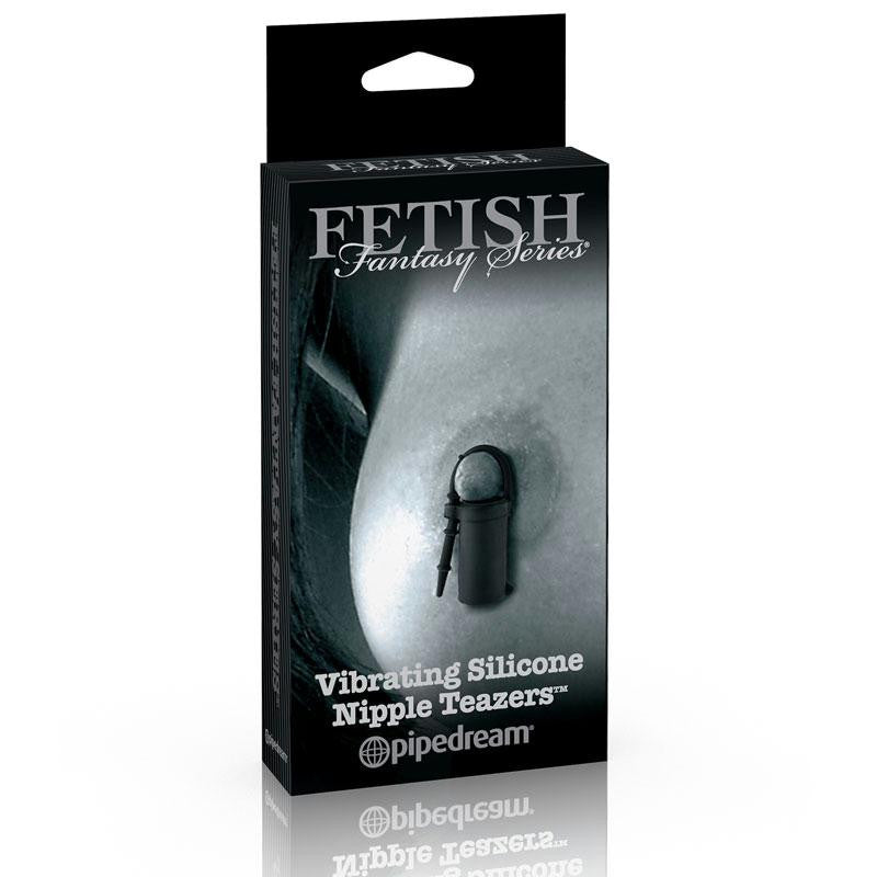 Fetish Fantasy Limited Edition Vibrating Silicone Nipple Teazers  (Black)
