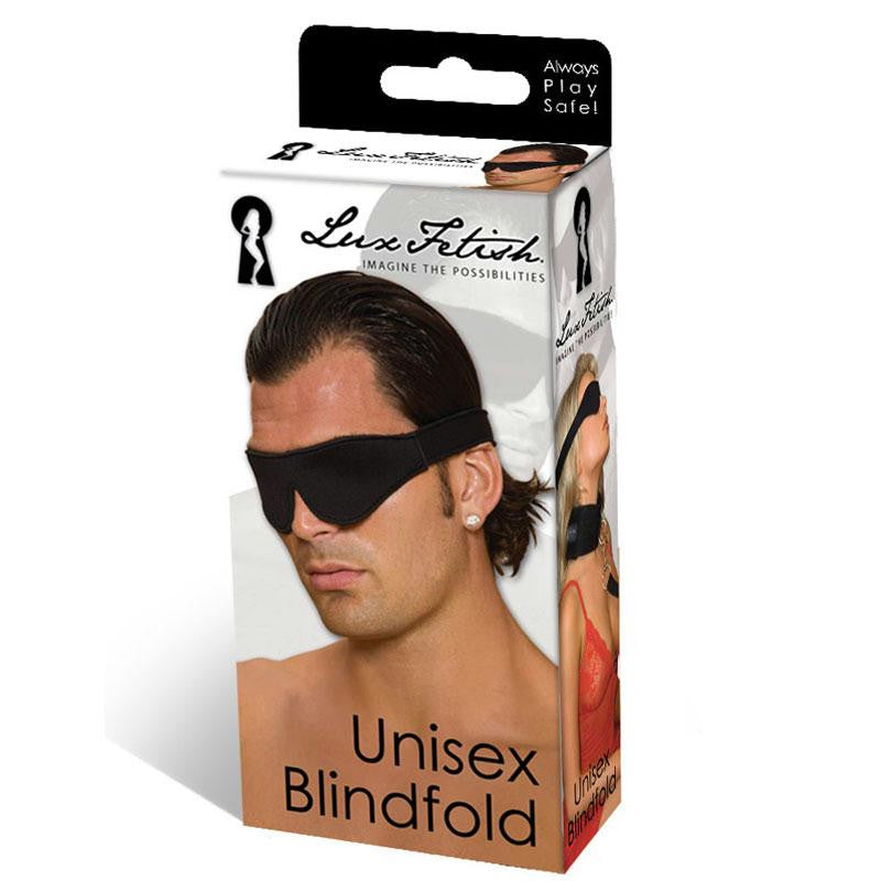 Lux Fetish Unisex Blindfold  (Black)