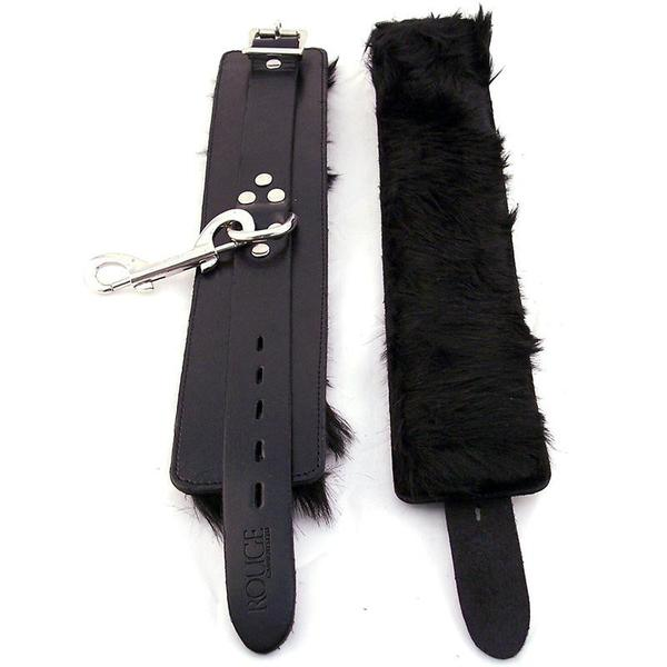 Rouge Wrist Cuffs  (Black, Brown, Fur Black, Padded Black, Plain Leather Black, Pink, Purple, and Red))
