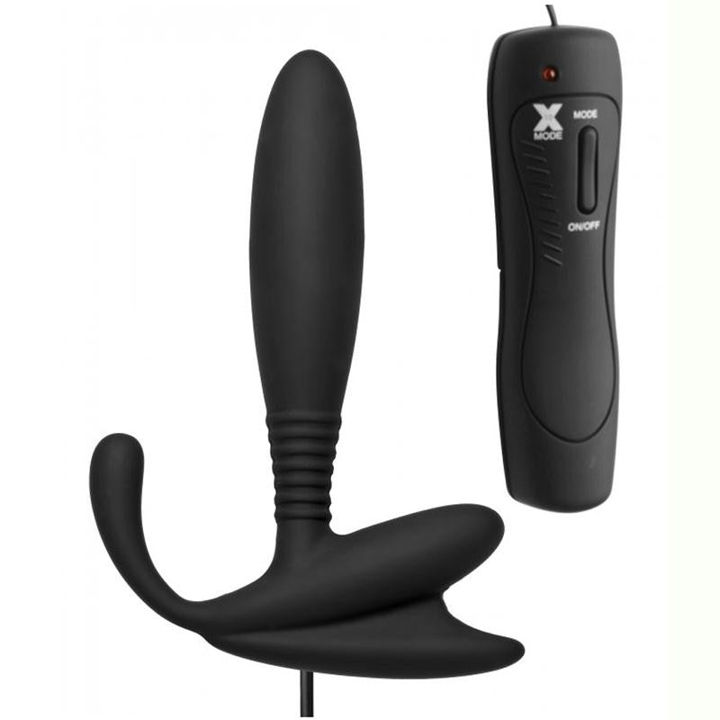 Masters Cobra Vibrating Silicone P-Spot Massager (Black)