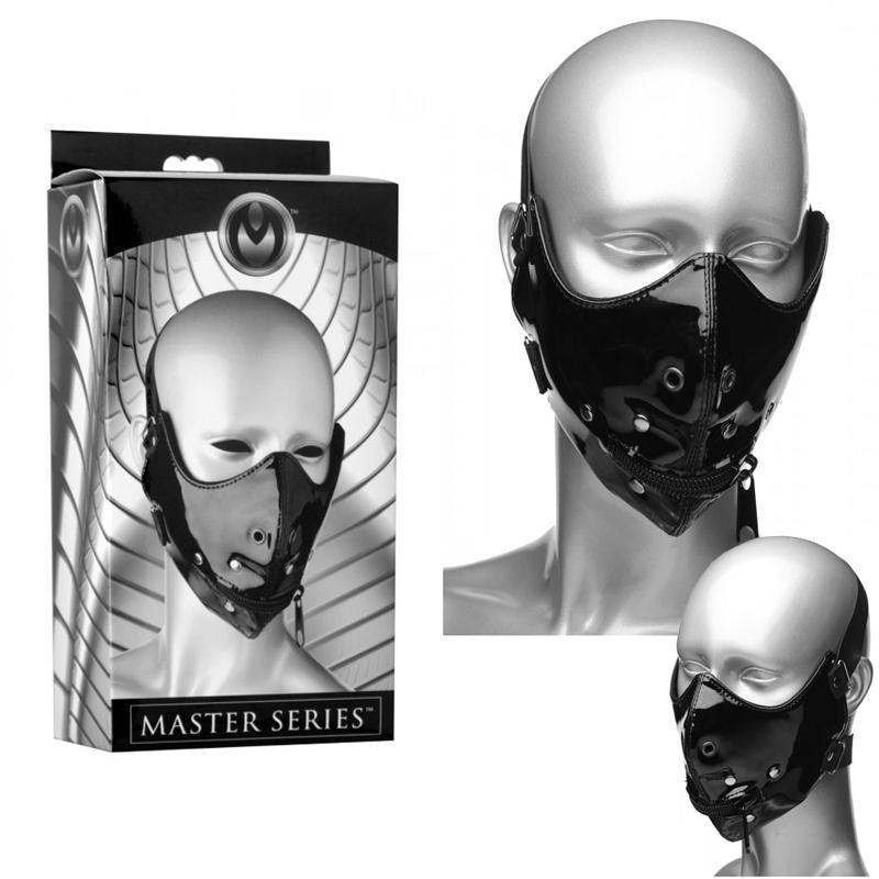 Masters Lektor Zipper Mouth Muzzle  (Black)