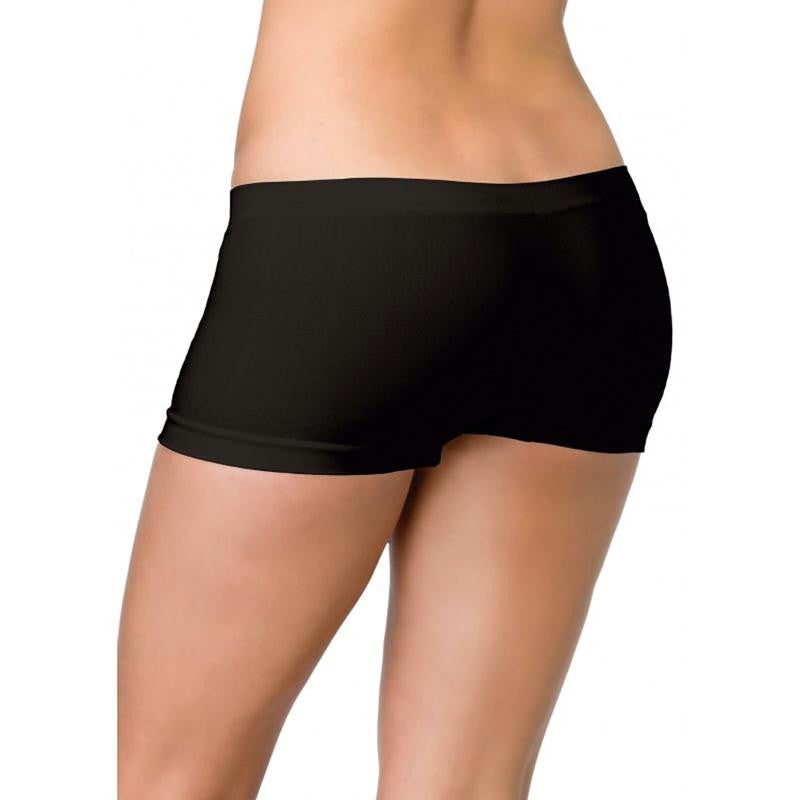 Seamless Boy Shorts OS  (Black, Red, and White)
