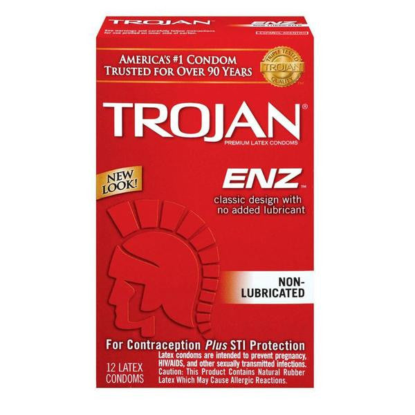 Trojan Non-Lubricated Condoms 3 Pack or 12 Pack