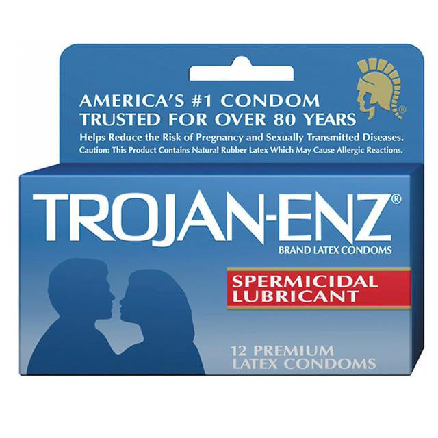 Trojan-Enz with Spermicidal Lubricant 3 Pack or 12 Pack
