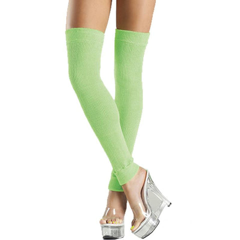 Acrylic Thigh High Leg Warmer O-S  (Green, Purple, and Turquoise)