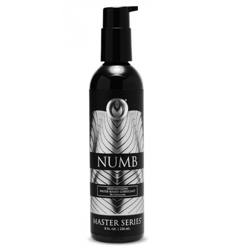 Masters Numb Desensitizing Water Based Lubricant with 3.5% Lidocaine 8 Ounces