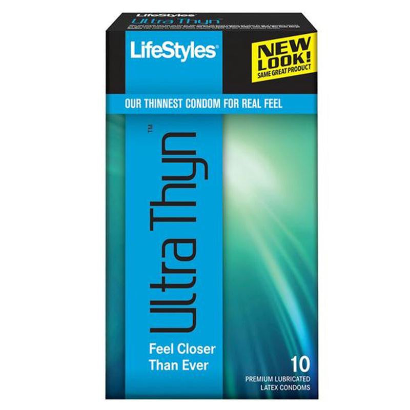 Lifestyles Ultra Thyn Latex Condoms 10 Pack