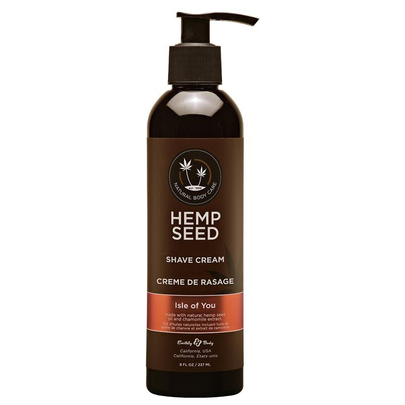 Earthly Body Hemp Seed Shave Cream 8 Ounces and 16 Ounces  (Isle of You)