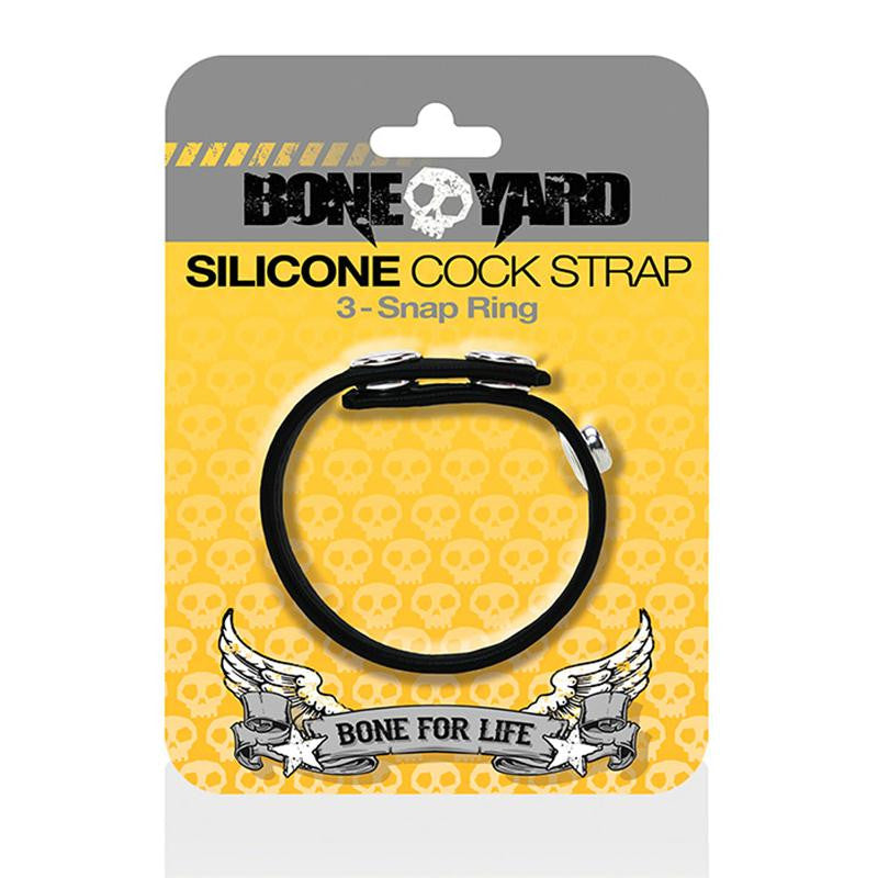 Boneyard Cock Strap  (Black and Yellow)