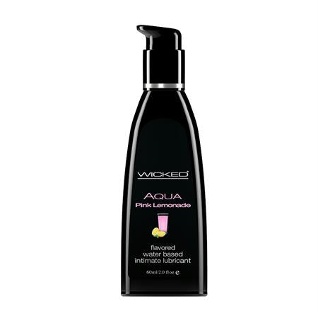 Wicked Aqua Flavored Lubricant 2 Ounces and 4 Ounces  (Pink Lemonade)