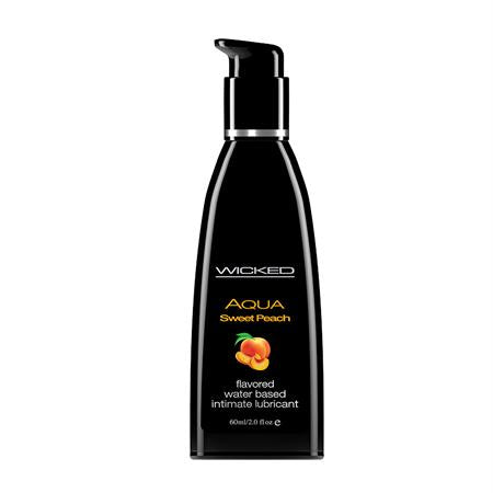 Wicked Aqua Flavored Lubricant 2 Ounces and 4 Ounces  (Sweet Peach)