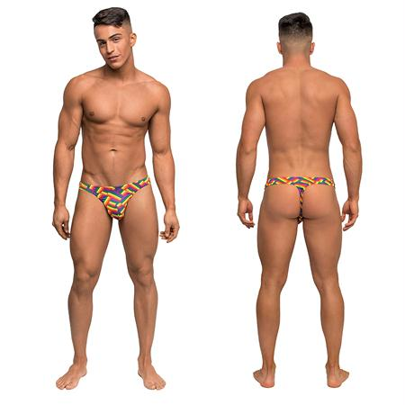 Male Power Pride Fest Bong Thong Print Small-Medium and Large-Extra Large  (Multi)