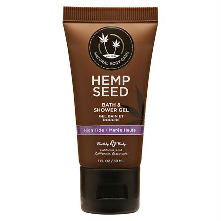 Earthly Body Hemp Seed Shower Gel 1 Ounce  (High Tide, Isle of You, Nag Champa, Naked in the Woods, and Skinny Dip)