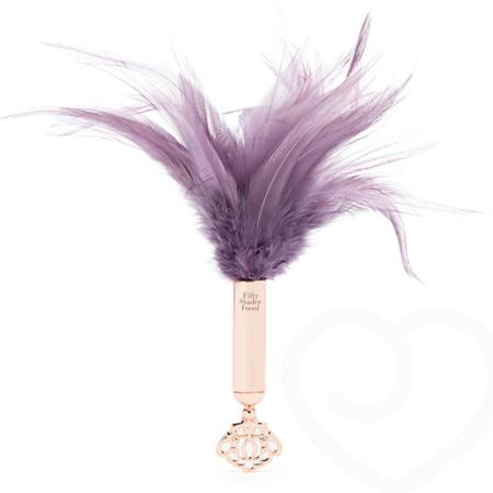 Fifty Shades Freed Cherished Collection Feather Tickler  (Gold-Purple)