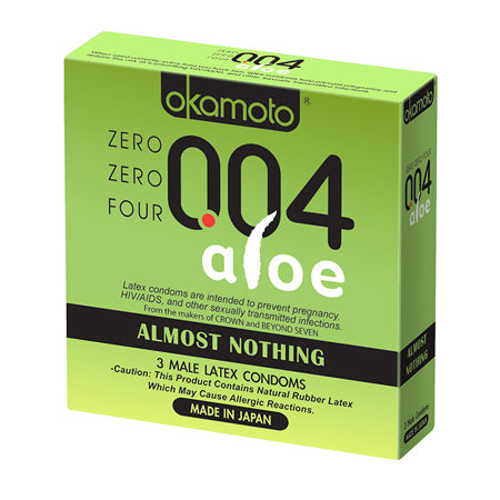 004 Almost Nothing Condom with Aloe 3 Pack