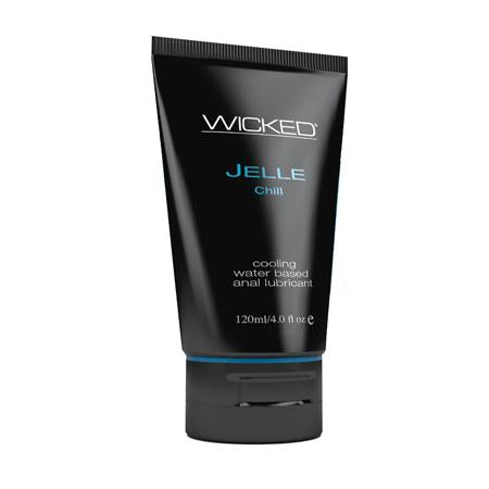Wicked Jelle Anal Gel Cooling Sensation Lubricant 4 Ounces