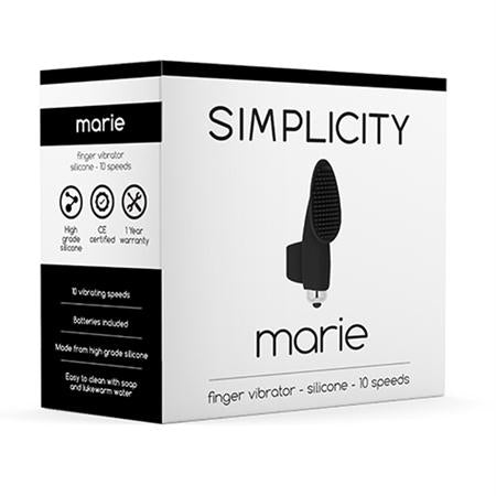 Simplicity Marie Finger Vibrator  (Black, Pink, and Purple)