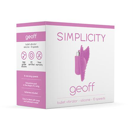Simplicity Geoff Bullet Vibrator  (Pink and Purple)