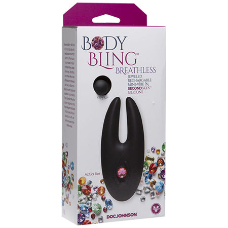 Body Bling Clit Cuddler Mini-Vibe in Second Skin Silicone  (Pink, Purple, and Silver)