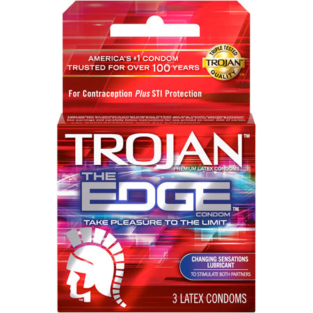 Trojan The Edge 3 Pack or 10 Pack
