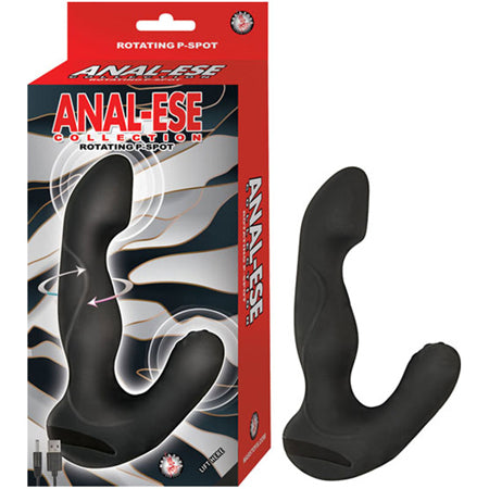 Anal Ese Collection Rotating P Spot Vibe  (Black)