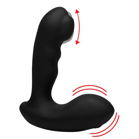 7X P-Milker Prostate Stimulator with Milking Bead  (Black)
