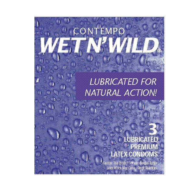 Contempo Wet and Wild Condom 3 Pack