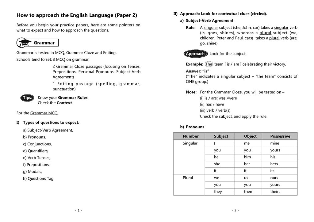 English Mock Exam Papers Primary 3