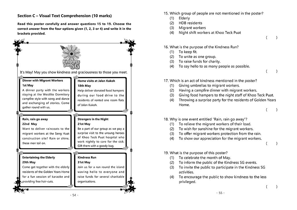 English Mock Exam Papers Primary 4