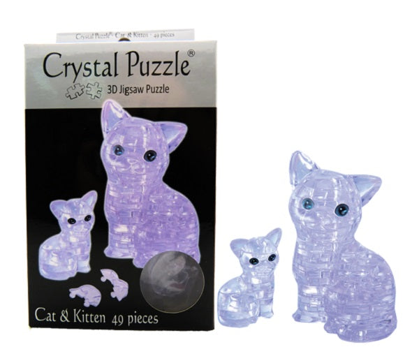 3D Crystal Puzzle Clear Cat