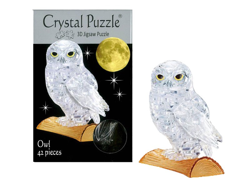 3D Crystal Puzzle Clear Owl