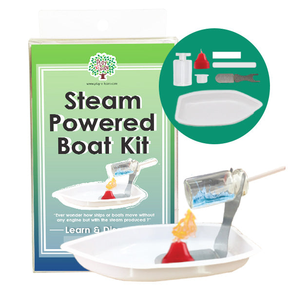 Play N Learn STEM Steam Powered Boat Kit
