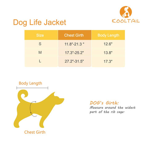 Pawsroad Dog Life Vest Size