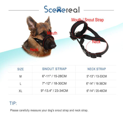Pawsroad Breathable Adjustable Dog Muzzle 3 Pack