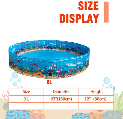 PAWSROAD Large Dog Pet Swimming Pool