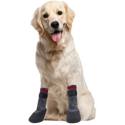 Mihachi Dog Socks - Paw Protectors Anti-Slip with Velcro Straps Traction Control for Indoor and Outdoor - Hoverboardmall