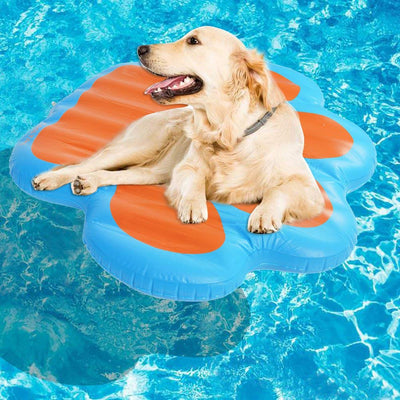 Pawsroad Paw Dog Pool Float Large Inflatable Raft for Pets